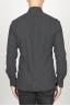 SBU 00933 Camicia classica collo a punta in flanella di cotone nera 04