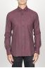 SBU 00934 Camicia classica collo a punta in flanella di cotone rossa 01
