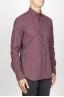 SBU 00934 Camicia classica collo a punta in flanella di cotone rossa 02