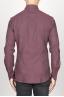 SBU 00934 Camicia classica collo a punta in flanella di cotone rossa 04
