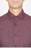 SBU 00934 Camicia classica collo a punta in flanella di cotone rossa 05
