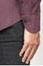 SBU 00934 Camicia classica collo a punta in flanella di cotone rossa 06