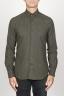 SBU 00935 Classic point collar green cotton flannel shirt 01