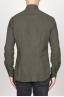 SBU 00935 Clásica camisa verde de franela de algodón con cuello de punta  04
