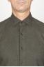 SBU 00935 Camicia classica collo a punta in flanella di cotone verde 05