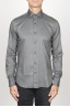 SBU 00936 Classic point collar grey washed oxford shirt 01