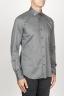SBU 00936 Camicia classica collo a punta in oxford lavato grigia 02