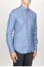 SBU 00937 Clásica camisa oxford azul claro lavado con cuello de punta  02