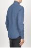 SBU 00938 Clásica camisa oxford azul lavado con cuello de punta  03