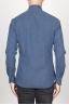 SBU 00938 Clásica camisa oxford azul lavado con cuello de punta  04