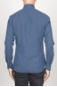 SBU 00938 Classic point collar blue washed oxford shirt 04