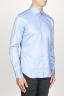 SBU 00939 Clásica camisa oxford azul de algodón con cuello de punta  02