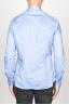 SBU 00939 Clásica camisa oxford azul de algodón con cuello de punta  04