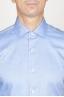 SBU 00939 Camicia classica collo a punta in cotone oxford azzurra 05
