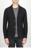 SBU 00909 Chaqueta de mezclilla de lana stretch negra 01