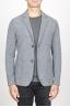 SBU 00910 Chaqueta de mezclilla de lana stretch gris 01