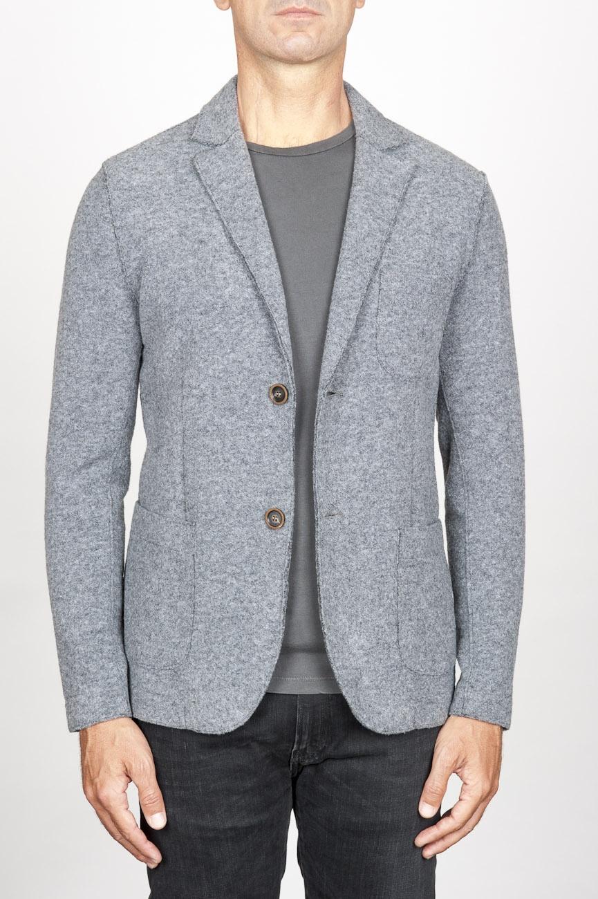 SBU 00910 Veste stretch en laine élastique gris 01