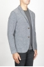 SBU 00910 Single breasted grey stretch wool blend blazer 02
