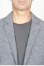 SBU 00910 Single breasted grey stretch wool blend blazer 05