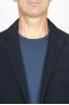 SBU 00911 Single breasted blue stretch wool blend blazer 05