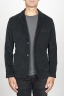 SBU 00912 Single breasted black stretch cotton corduroy blazer 01