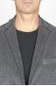 SBU 00913 Single breasted grey stretch cotton corduroy blazer 05
