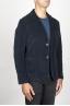 SBU 00914 Single breasted blue stretch cotton corduroy blazer 02