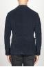 SBU 00914 Single breasted blue stretch cotton corduroy blazer 04