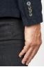SBU 00914 Single breasted blue stretch cotton corduroy blazer 06
