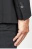 SBU 00915 ブラックウールのシングルブレストアンライン2ボタンジャケット 06
