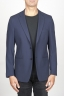 SBU 00916 Single breasted unlined 2 button jacket in blue stretch wool 01