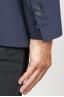 SBU 00916 Giacca classica monopetto semi-foderata in lana elasticizzata blue 06