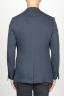 SBU 00917 Single breasted unlined 2 button jacket in blue wool 04