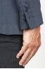 SBU 00917 Single breasted unlined 2 button jacket in blue wool 06
