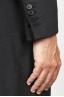 SBU 00918 Cappotto da uomo classico nero in cachemire sfoderato 06