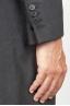 SBU 00919 Cappotto da uomo classico grigio in cachemire sfoderato 06