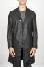 SBU 00920 Trench-coat en coton imperméable noir classique 01