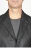 SBU 00920 Trench-coat en coton imperméable noir classique 05