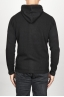 SBU 00942 Cashmere blend zipped hooded sweater black 04