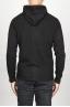 SBU 00942 Veste cachemire noir avec capuche et zip 04
