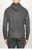 SBU 00943 Cashmere blend zipped hooded sweater grey 04