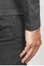 SBU 00943 カシミアブレンドジップフード付きセーターグレー 06