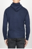 SBU 00944 Veste cachemire blue avec capuche et zip 04
