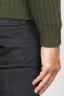 SBU 00946 Classic crew neck sweater in green pure wool fisherman's rib 06