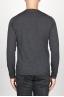 SBU 00949 Suéter clásico de cuello redondo en lana merina gris 04