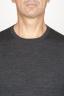 SBU 00949 Classic crew neck sweater in grey merino wool 05