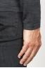 SBU 00949 Classic crew neck sweater in grey merino wool 06