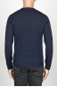 SBU 00950 Classic crew neck sweater in blu merino wool 04