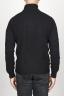 SBU 00951 ブラックカシミアのクラシックなタートルネックのセーター 04
