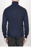 SBU 00953 Jersey de cuello alto en cachemir azul 04